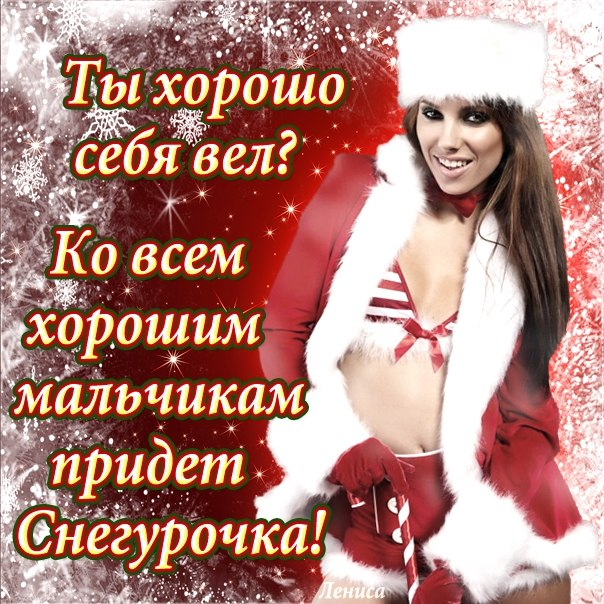 Смешные новогодние поздравления девушками